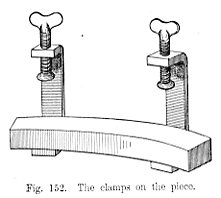 The clamps on the piece Fig 152