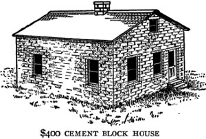a kansas farmer needed a house on his farm but had very little money he found that only a little was needed for a cement block house